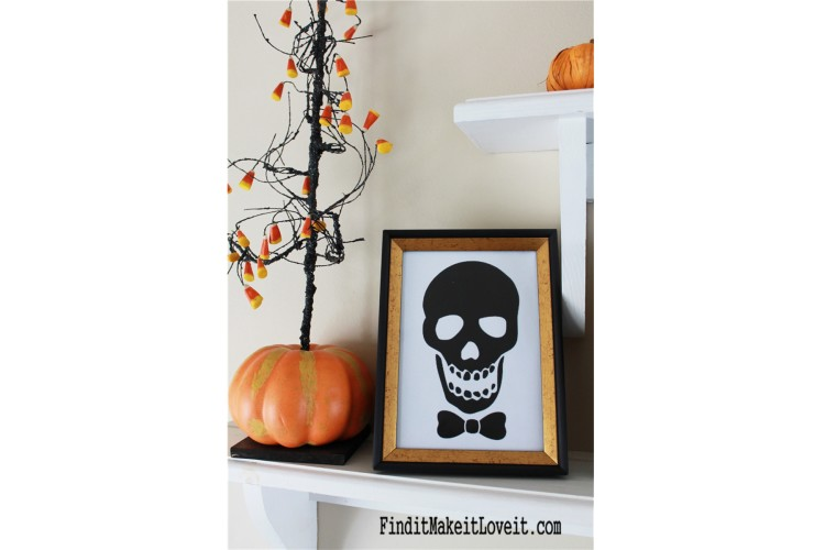 Free skull printable-Mr. and Mrs.