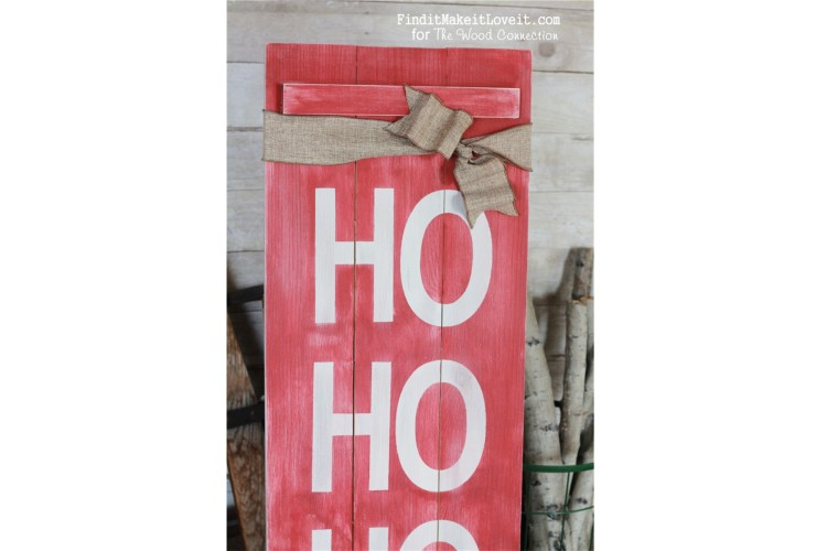 HO HO HO Christmas Porch Sign