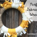 Perfect Fabric Rag Wreath for Fall