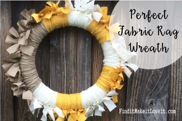 Perfect Fabric Rag wreath. Beautiful for Fall or all year decor.