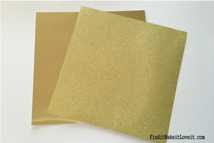 Gold scrapbook paper can be used to get the gold foil look