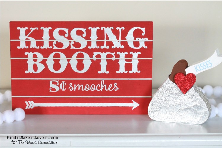 Kissing booth sign and 'hershey kiss' (1)