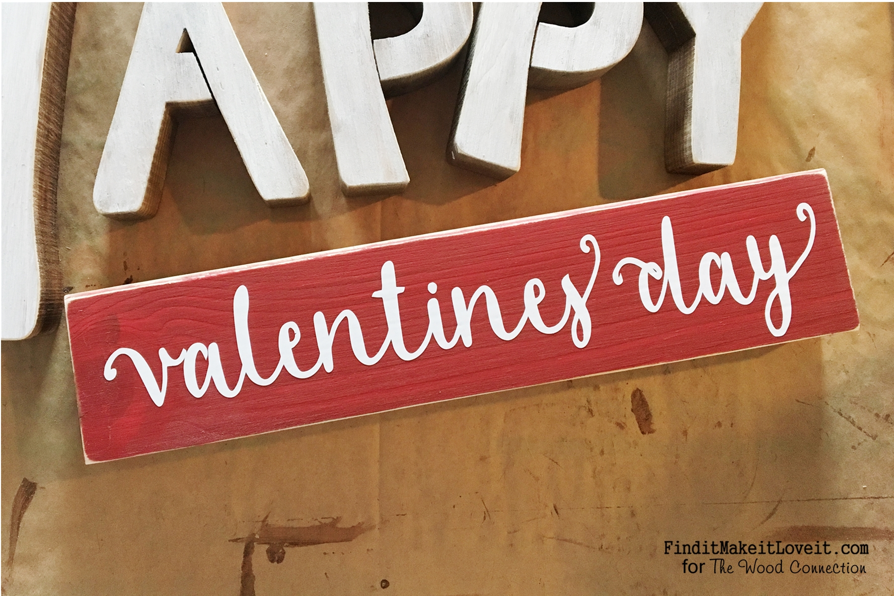 CUTE Reversible Sign, Happy Valentineu0027s Day On One Side, Happy Birthday On  The Other