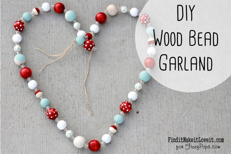 Colored and hand painted wood beads. A fun and simple DIY wood bead garland.