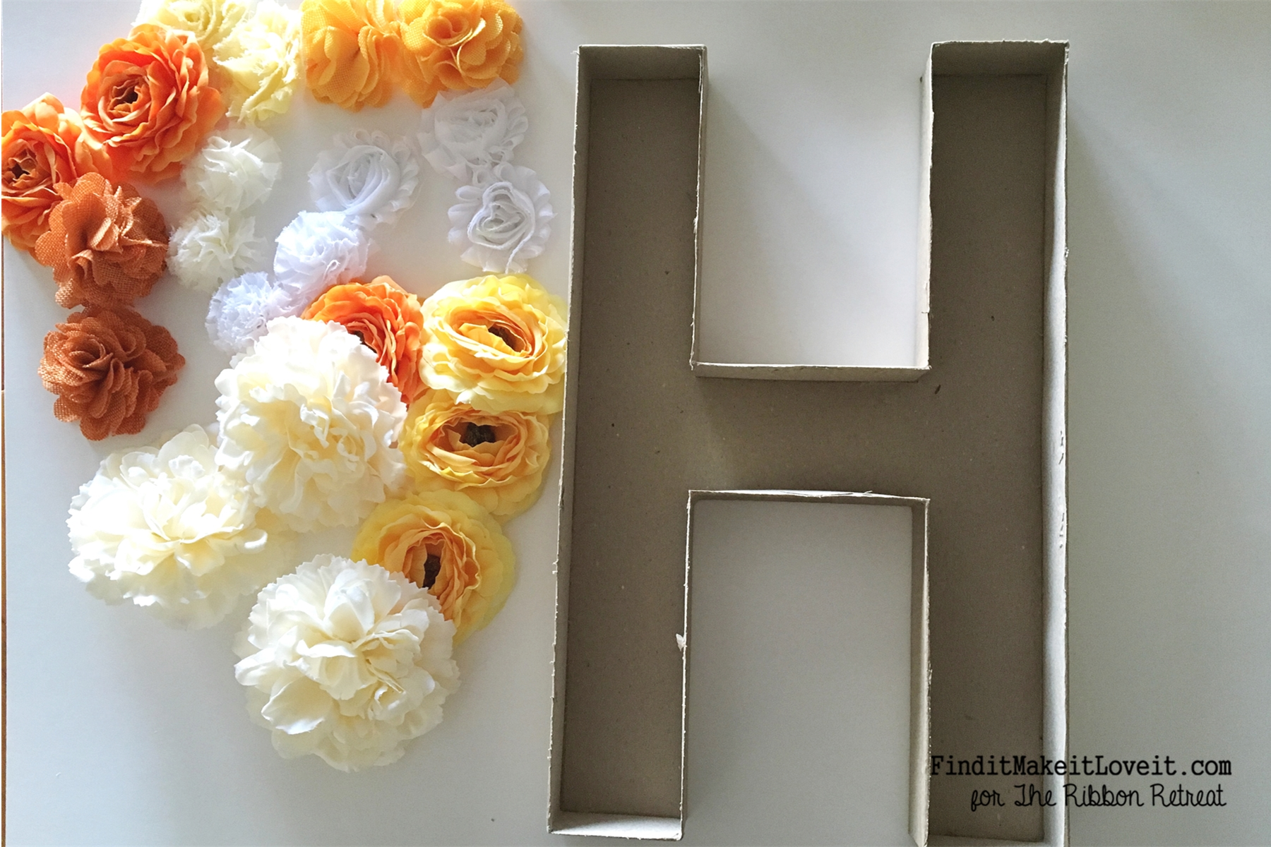 DIY Flower Monogram (13)