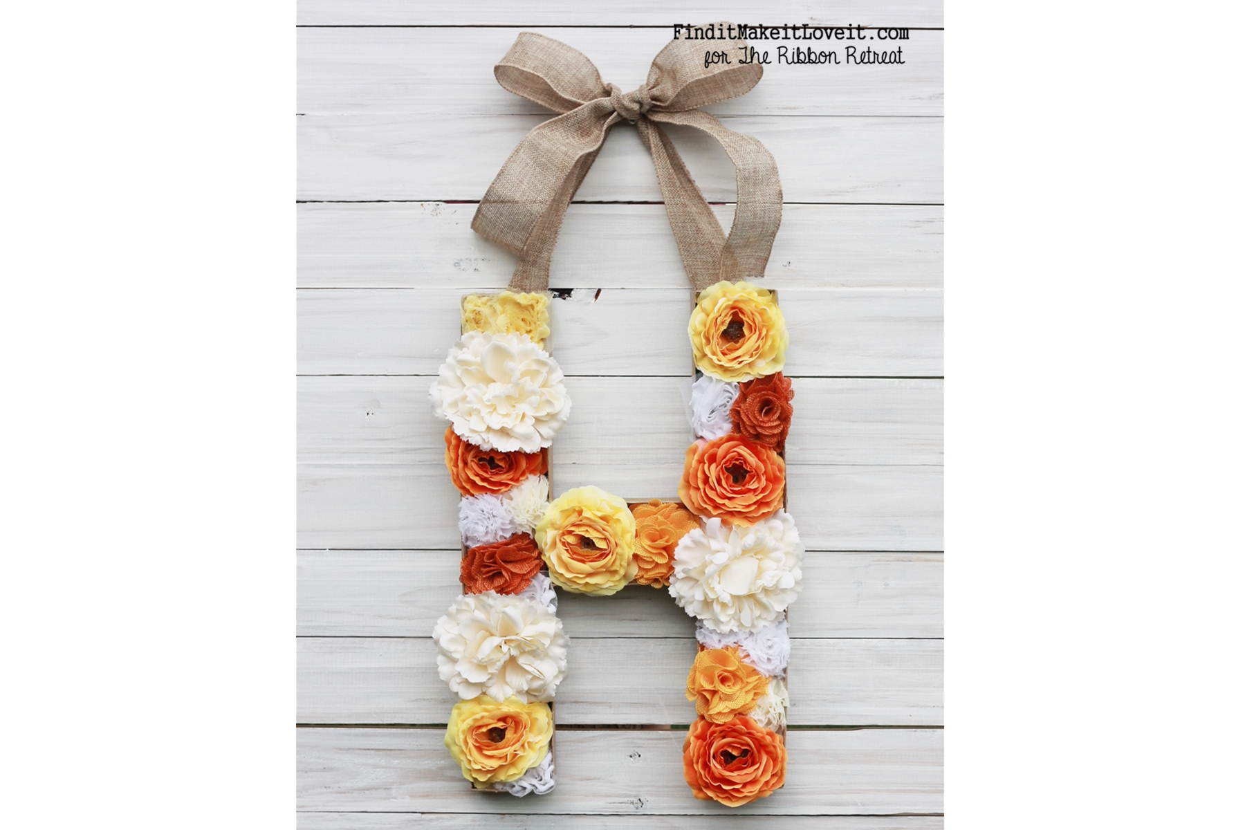 DIY Flower Monogram (3)