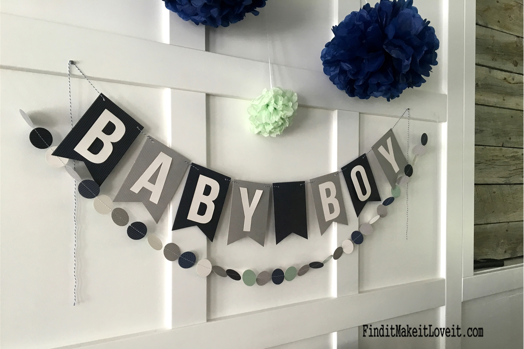 Boy Baby Shower Find it Make it Love it