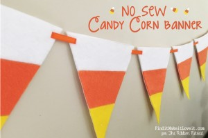No Sew Candy Corn Banner