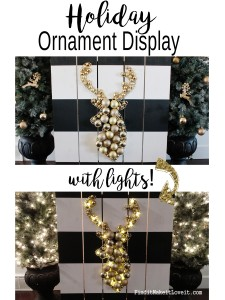 Holiday Ornament Display {Home Depot DIH Workshop Announcement}