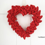 Felt Heart Wreath
