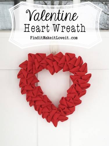 Felt Petal Wreath-Heart shaped and perfect for Valentine's Day!