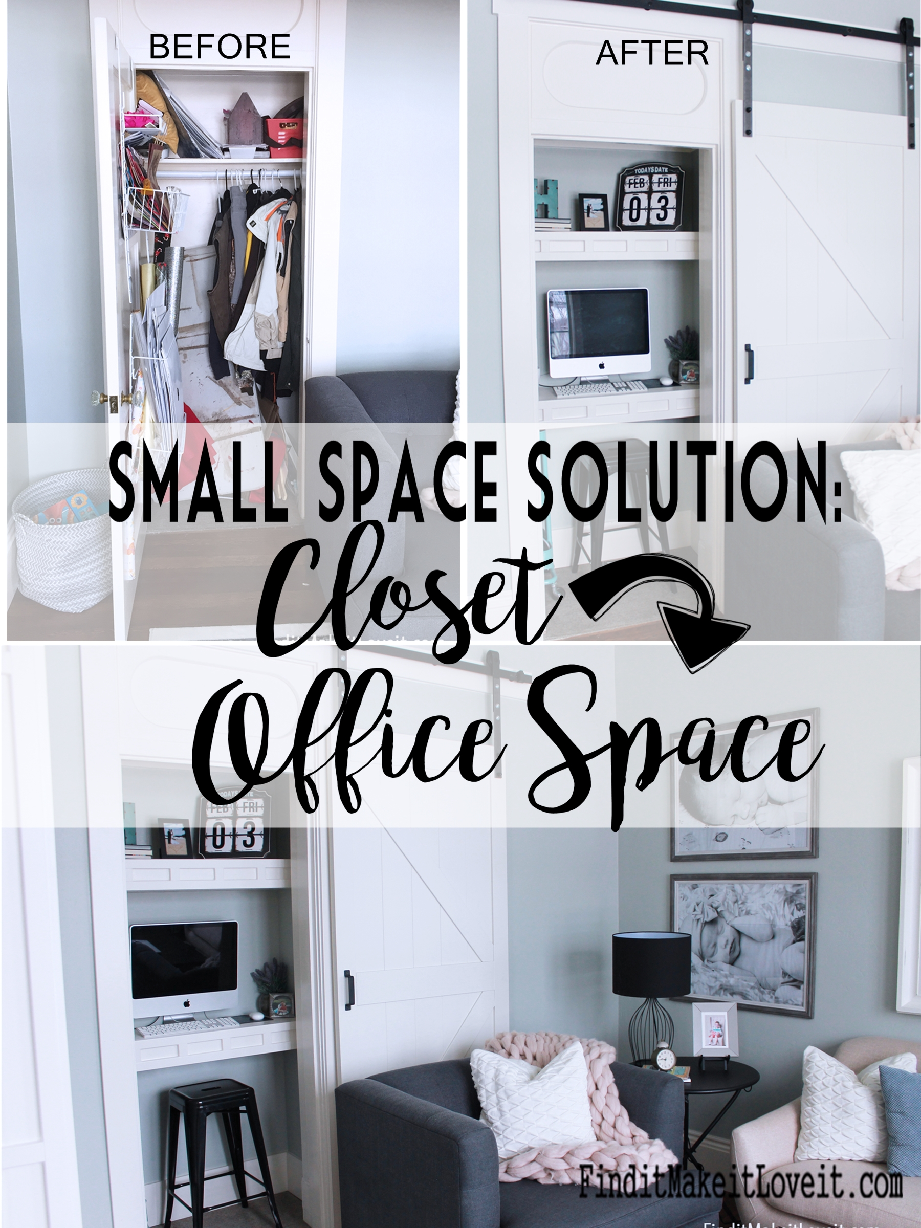 closet to office. Designate To All The Things And Activities We Need Or Want, Have A  Little Inspiration Help With At Least One Of Them\u2013a Closet Turned Office Space!