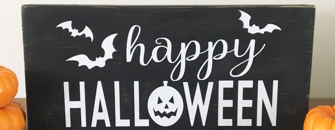 Happy Halloween Block Sign