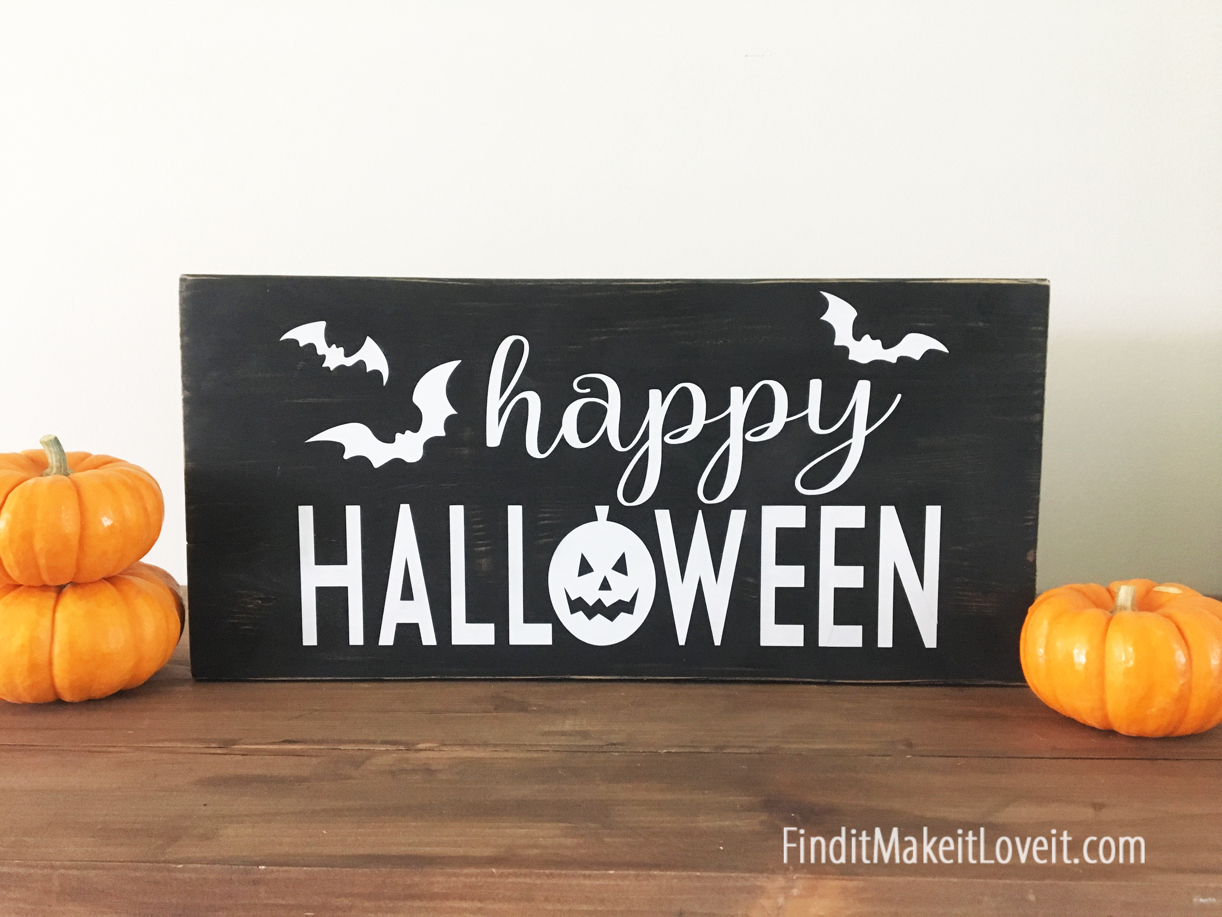 Happy Halloween Block Sign - Find it, Make it, Love it
