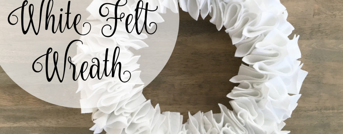 White Felt Wreath